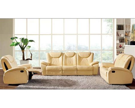 beige leather sofa set traditional leather sofa set in beige color esf33set