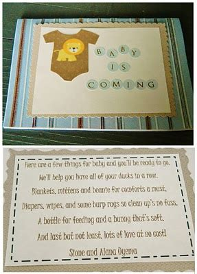 Gift Card Baby Shower Poem - baby shower poem card and gift idea did somebody say they are hav