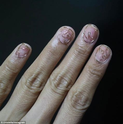 wire nails   latest manicure trend daily mail