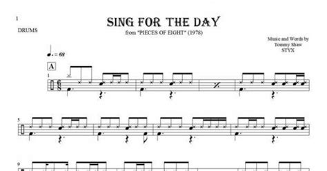 drum pattern for sing sing sing sing for the day notes for drum kit playyournotes