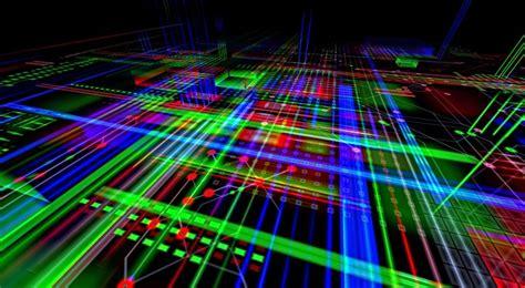 illustration electronics board computer trace