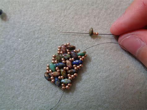 free patterns using superduo beads tweaked version of superduo knit herringbone bracelet
