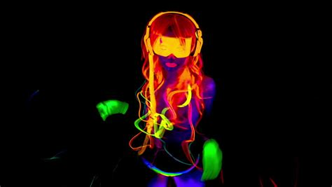 black light clothes stock footage