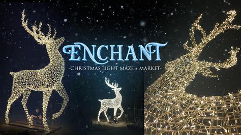enchant christmas light maze world s largest christmas light maze market comes to