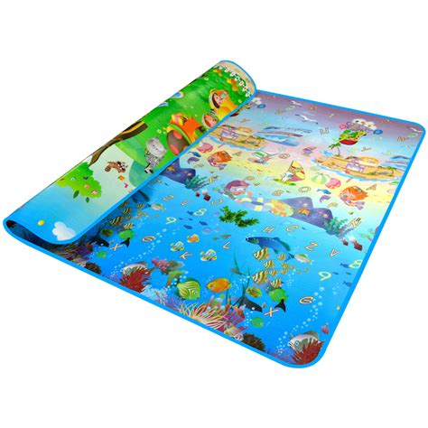 baby crawling mat sided pattern animal 2 1 8m baby