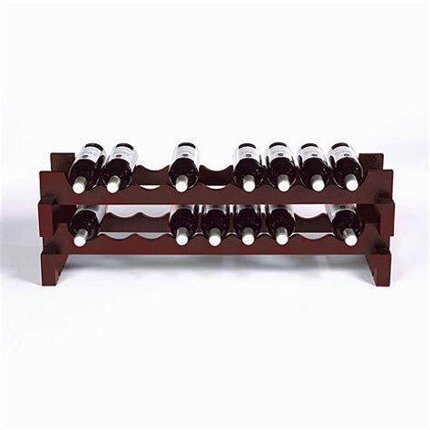 18 bottle stackable wine rack kit mahogany wine enthusiast