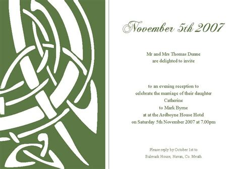 celtic wedding invitations template best template collection