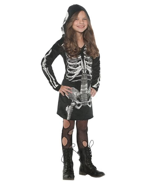 Bba3008 Dress Kostum Hoodie skeleton hoodie dress costume