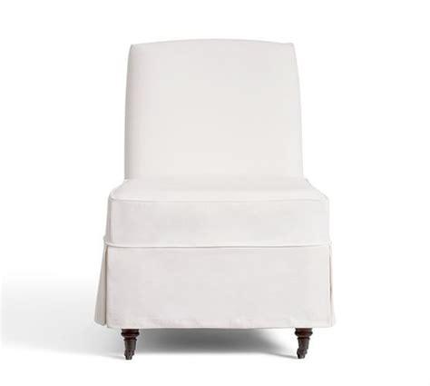 Slipper Chair Slipcovers by Maxton Slipcovered Slipper Chair Denim Warm White