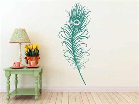 peacock feather wall sticker large peacock feather vinyl decal wall sticker room
