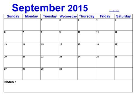 Calendar 2015 September Blank Calendar September 2015 2016 Blank Calendar