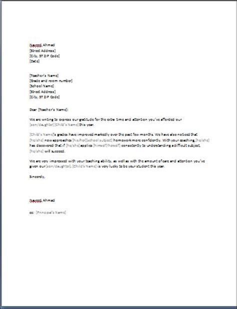 Formal Letter To Teacher   formal letter template