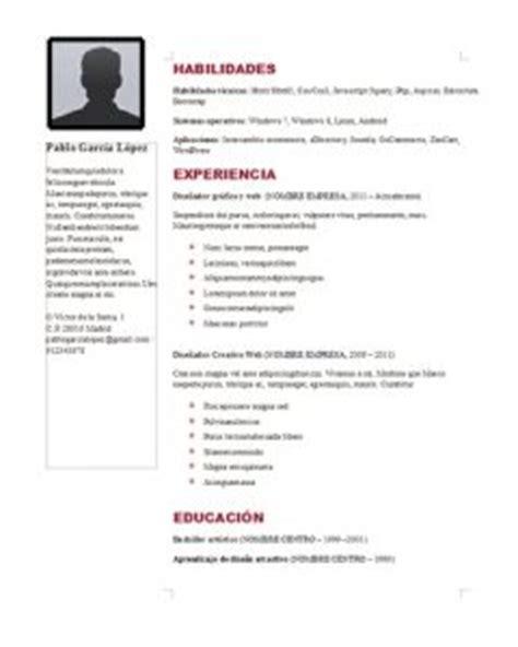 Modelo De Curriculum Vitae Para Rellenar En Word Plantillas Curriculum Vitae En Word Para Rellenar Gratis