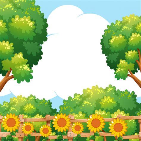 Garten Gestalten Kostenlos by Hintergrundszene Mit Sonnenblumen Im Garten Der
