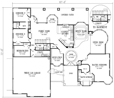 Mediterranean Style House Plans 3040 Square Foot Home Mediterranean House Plans Without Garage