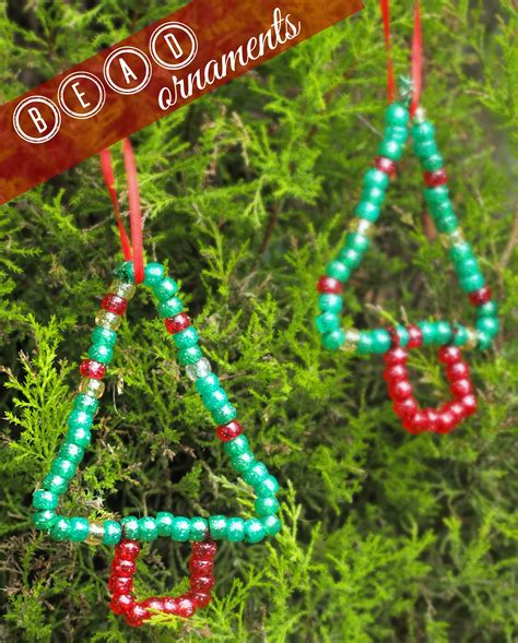 bead ornament christmas crafts pinterest
