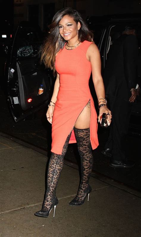 christina milian proves the thigh s the limit in a