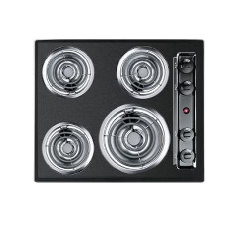 24 Electric Cooktop Summit Appliance 24 In Coil Electric Cooktop In Black