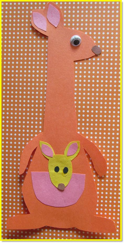 Kangaroo Paper Craft - 1000 ideas about letter k crafts on letter k