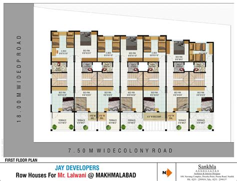indian row house plans vijay darshan row houses in makhmalabad road nashik buy sale row house online