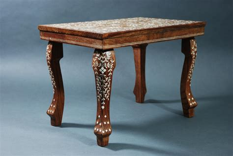 Decorative Table L by Pr Decorative Indian Hardwood Inlaid Tables In Sold Archive