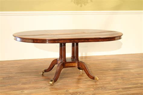 48 Dining Table With Leaf 48 Inch To Oval Walnut And Yew Banded Dining Table