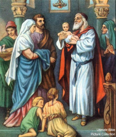 simeon from the bible luke 2 bible pictures simeon and baby jesus