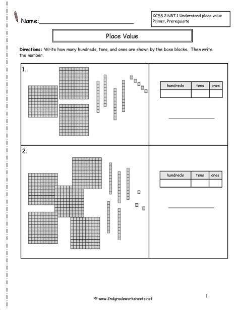 place value free printable math worksheets 2nd grade place value