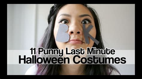 punny  minute halloween costumes youtube