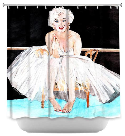 marilyn monroe shower curtains shower curtain artistic marilyn ballerina contemporary shower curtains by dianoche designs