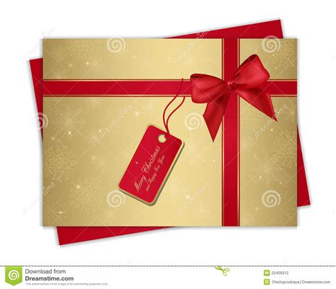 christmas gift card stock vector image of greeting