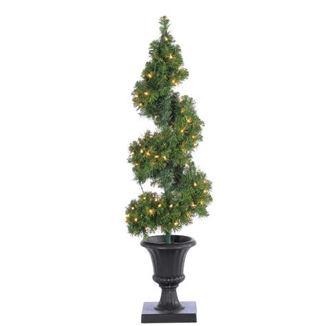 4 ft spiral christmas trees at walmart sterling 4 ft pre lit potted spiral artificial tree with branch tips 5214 40c