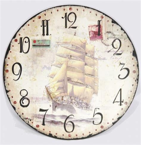 Decoupage Clock - 20170558005 jpg 600 215 620 zegary clocks
