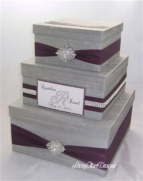 Wedding Card Gift Box - wedding gift box bling card box rhinestone money holder custom ma