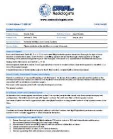 Radiology Report Template Sle Templates Collections Radiology Report Template