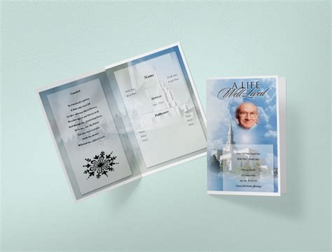 trifold funeral program funeral templates funeral