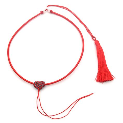 String Pendant L Diy by Knot Tassel Cord String Diy Necklace For Jade