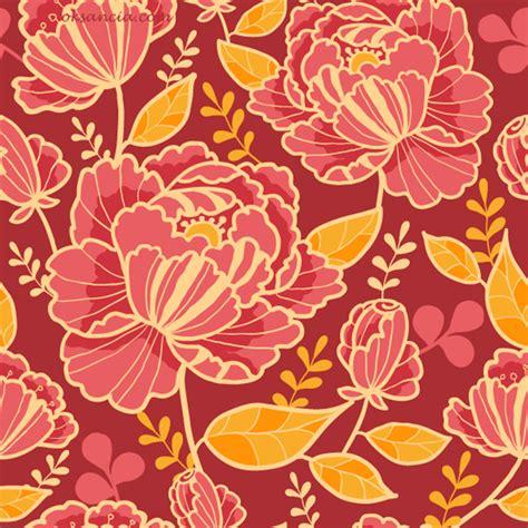 kimono pattern layout kimono florals vector seamless patterns on behance