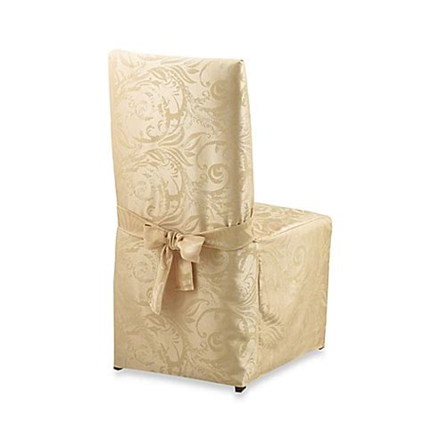 Damask Dining Room Chair Covers Autumn Scroll Damask Dining Room Chair Cover Bed Bath Beyond