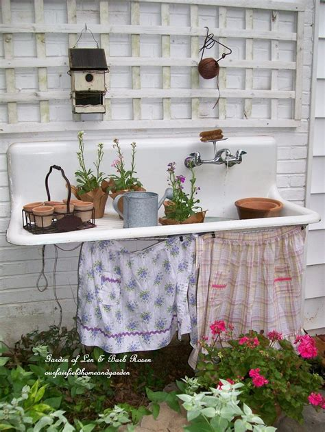 garden potting bench with sink 1000 images about outdoor sink on pinterest gardens