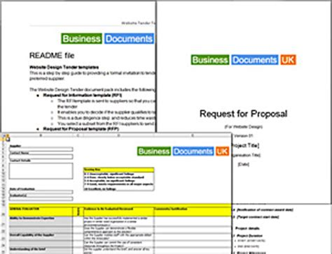 3pl rfp template running a website tender rfi rfp itt