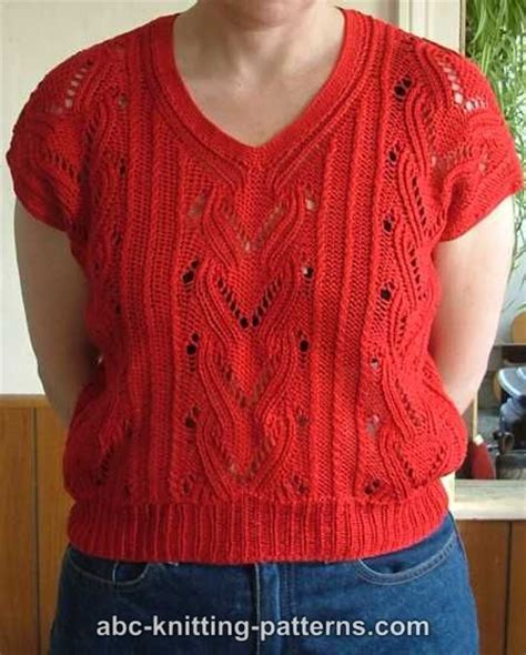 knitted tops abc knitting patterns knitted summer top