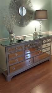 Dresser Nightstand Set Mirrored Dresser Grey With Quatrefoil Overlay By