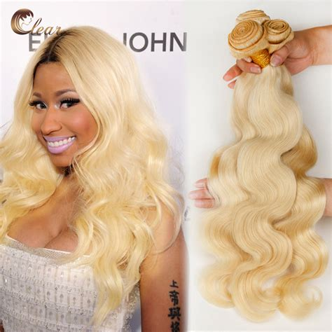 3 hair color weave pictures blonde 613 brazilian blonde virgin hair body wave 3pcs human hair