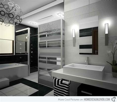 Modern Black And White Bathroom by 20 Sleek Ideas For Modern Black And White Bathrooms