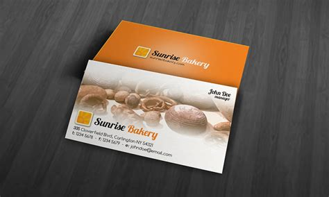 business card template for a bakery modern bakery business card template 187 free 187 bk00001