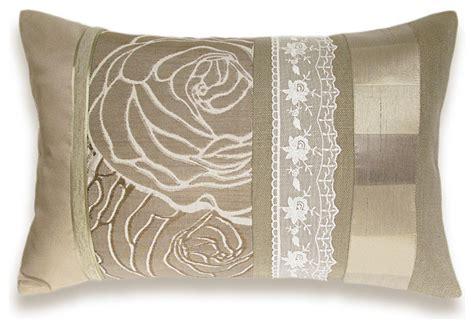 ivory beige lumbar pillow ooak 12 x 18 in irma
