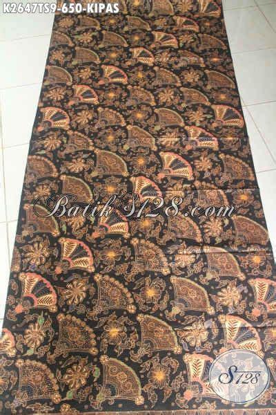 Kain Brukat Kode 267 kain batik premium motif kipas proses tulis soga batik halus buatan untuk baju pejabat dan