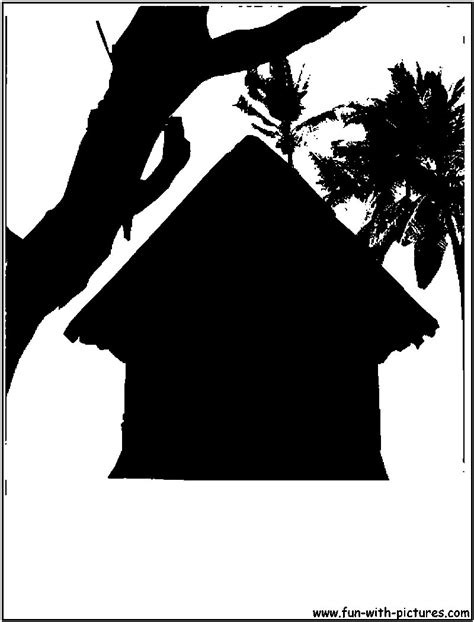 Cottage Silhouette by Jul 22 Rock Tree Silhouette