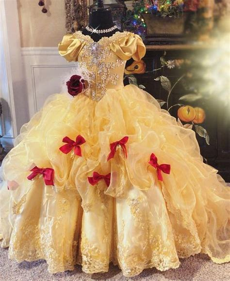 beautiful belle  gorgeous disney princess inspired gown